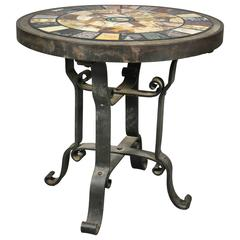 Italian Micromosaic and Specimen Marble Occasional Table