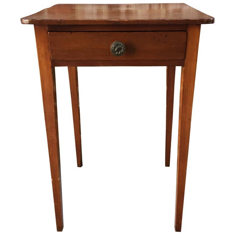 American Cherry Tapered Leg Work Table