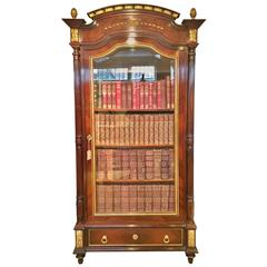 King wood and Ormolu Bookcase Cabinet c1880