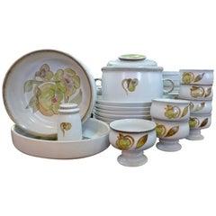 Denby Troubadour Ceramic Dinner Set, Hand-Painted 1970s
