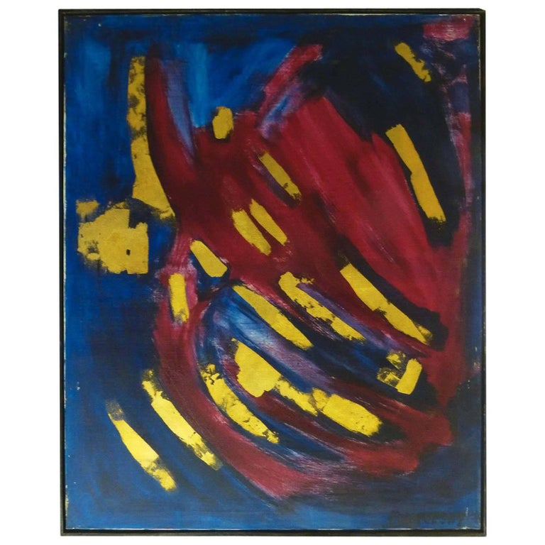 Abstract Oil on Canvas by Bert Miripolsky For Sale