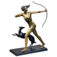"""The Last Arrow"" Bronze Figure after Marcel Bouraine"