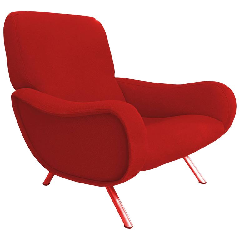 """Rare First Edition """"Lady"""" Lounge Chair by Marco Zanuso"""