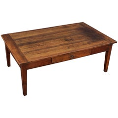 French Rectangular Low Table of Cherry