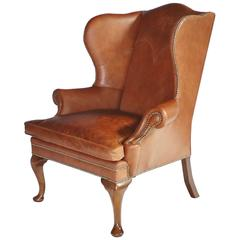 Ralph Lauren Leather Wingback Chair
