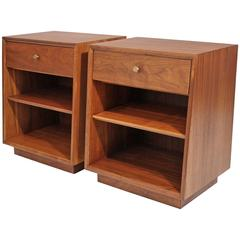Kipp Stewart Drexel Declaration Modernist Nightstands or End Tables