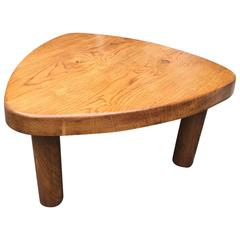 Charlotte Perriand Oak Tripod Triangle Coffee Table