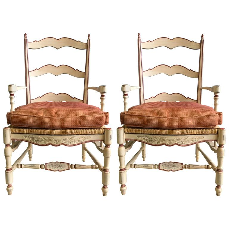 Set of Two Antique French Dining Chairs from 19th Century For Sale - Set Of Two Antique French Dining Chairs From 19th Century For Sale