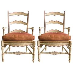 Two Antique French Dining Chairs from 19th Century