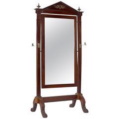 """19th Century Empire Period Mahogany Mirror, Type """"Psychee"""""""