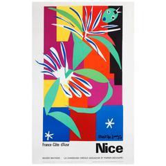 Vintage Nice Cote D'Azur Poster - Matisse Museum - La Danseuse Creole