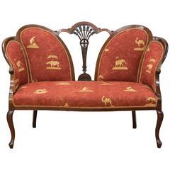 Edwardian Mahogany Two-Seat Settee