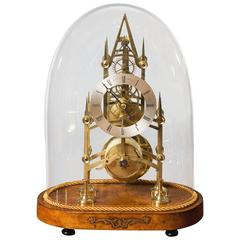 Early Victorian Brass Skeleton Clock