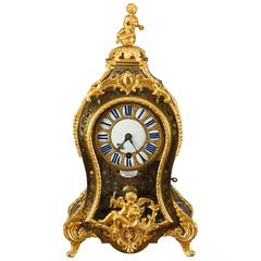 Louis XV Tortoiseshell Boulle clock, circa 1720