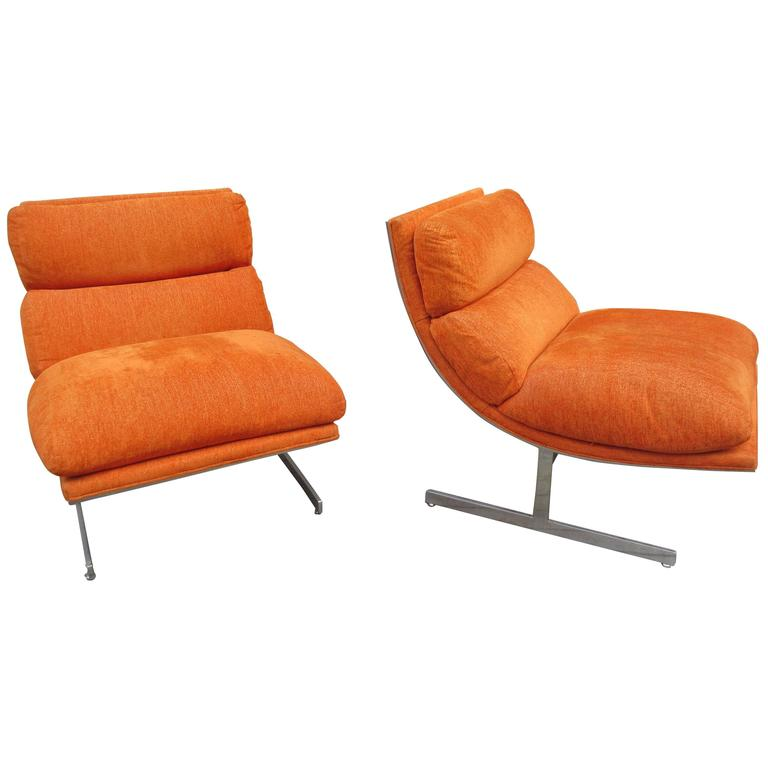 Milo Baughman for Thayer Coggin  pair of Lounge Chairs  1