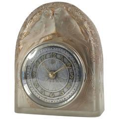 """René Lalique Pendule """"2 Colombes"""""""