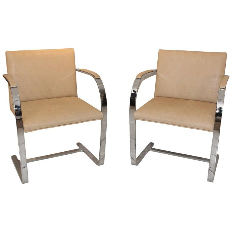 Pair of Brueton Armchairs For Sale