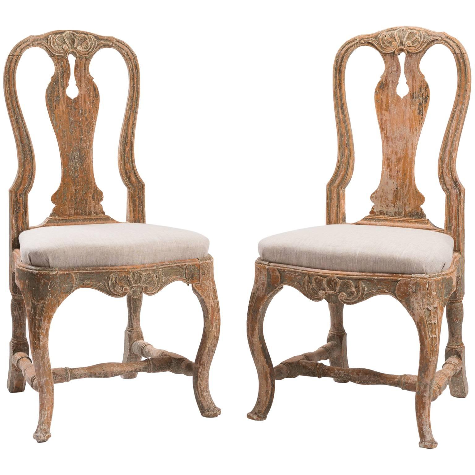 18th Century Swedish Rococo Chairs