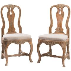 18th Century Swedish Rococo Chairs