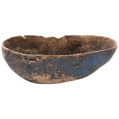 18th Century Swedish Root Bowl with Original Paint