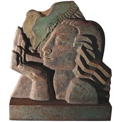 """Day,"" Art Deco Sculpture in Terra Cotta by Sidney Waugh, Buhl Planetarium"