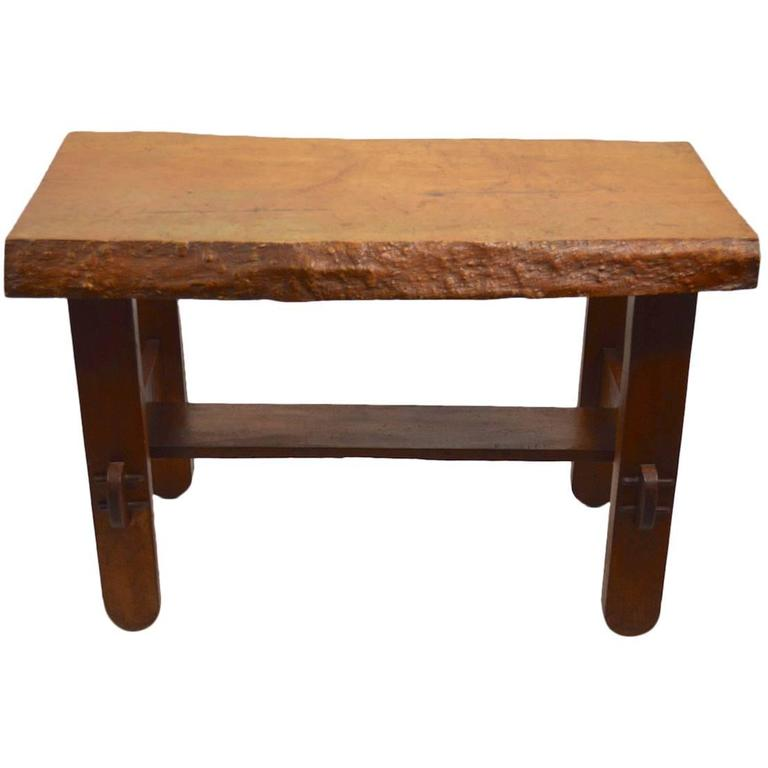 Vintage Rustic Freeform Tree Slab Coffee Table For Sale At: Adirondack Rustic Free Edge Slab Table For Sale At 1stdibs