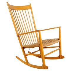 Beech Rocking Chair J16 by Hans Wegner