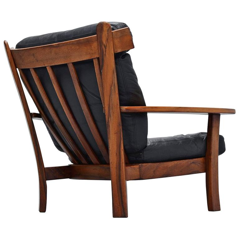 Brazilian Ox lounge Chair in Rosewood and Leather, 1960