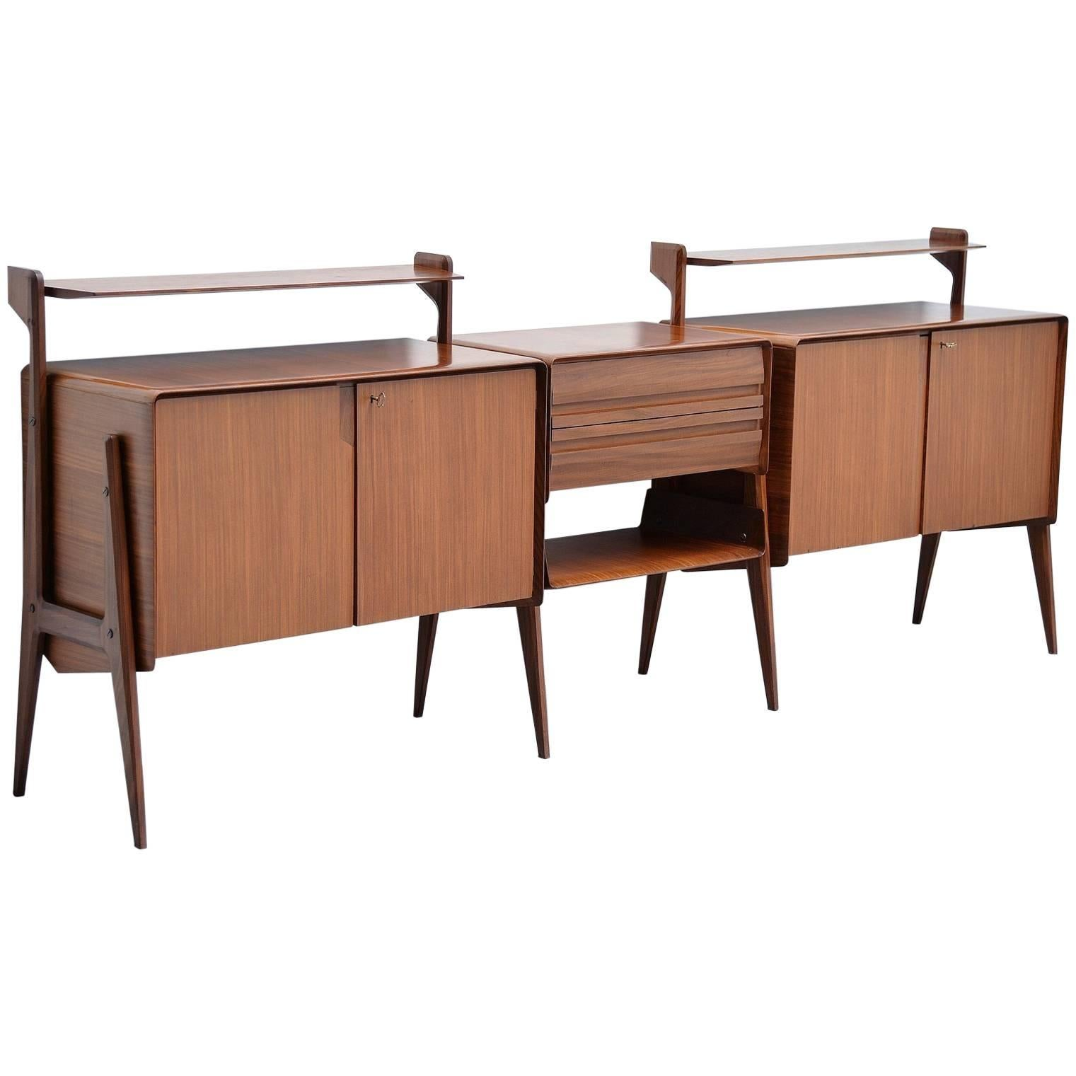 Attributed to Ico Parisi long sideboard Cantu, Italy, 1955