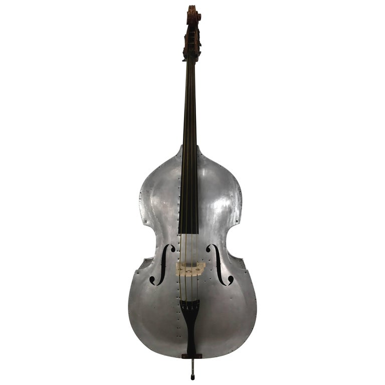 Rare Pfretzschner Aluminum Double Bass, Buffalo Ny, Art Deco, Machine Age For Sale