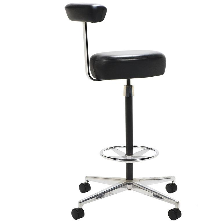 Herman Miller Drafting Stool By George Nelson At 1stdibs