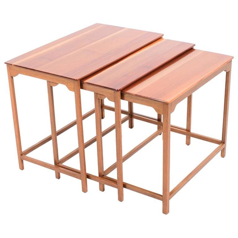 Edward Wormley Nesting Tables for Dunbar