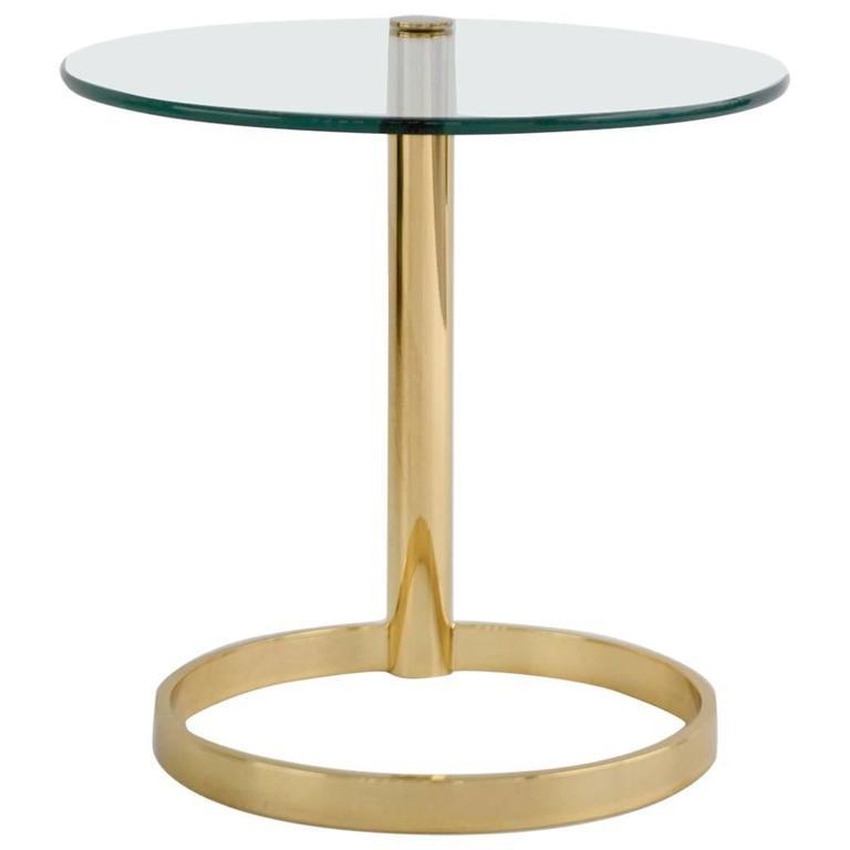 Post-Modern Sculptural Brass Side Table
