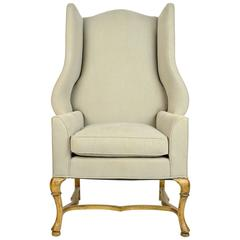 Large-Scale French Country Style Wingback Chair