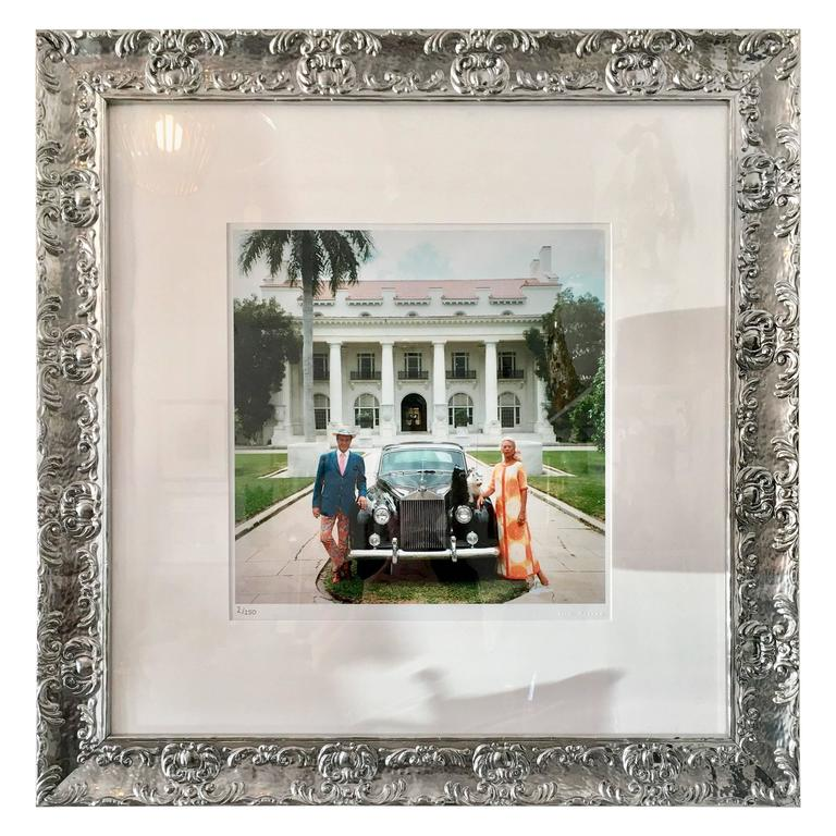 1960s Slim Aarons Photograph Donald Leas And Friend Palm Beach