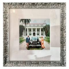 "1960'S Slim Aarons Photograph 'Donald Leas & Friend"" Palm Beach -Signed LE"