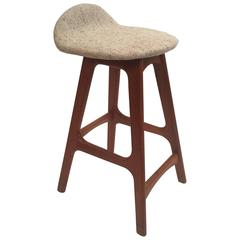 Erik Buck Counter Height Bar Stool with Woollen Seat