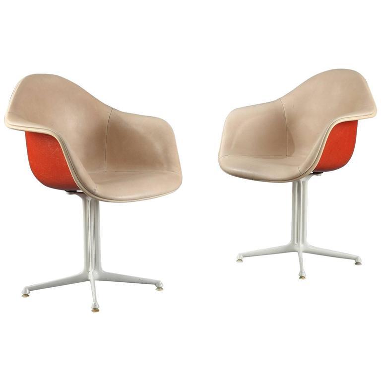 1960s Rare Pair of La Fonda Chairs by Charles and Ray Eames