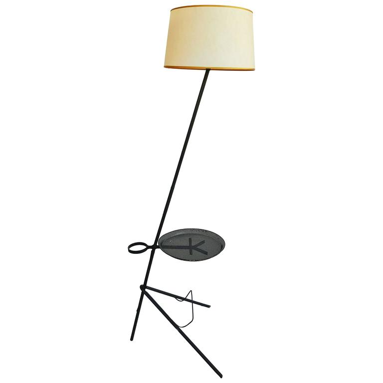 Mathieu Matégot Floor Lamp, France, 1950
