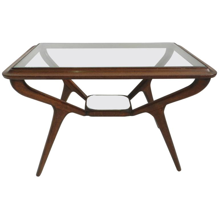 Elegant Mirrored Side Table At 1stdibs