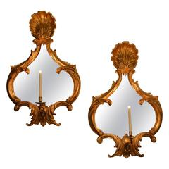 Pair of 18th Century Carved Giltwood Mirrors