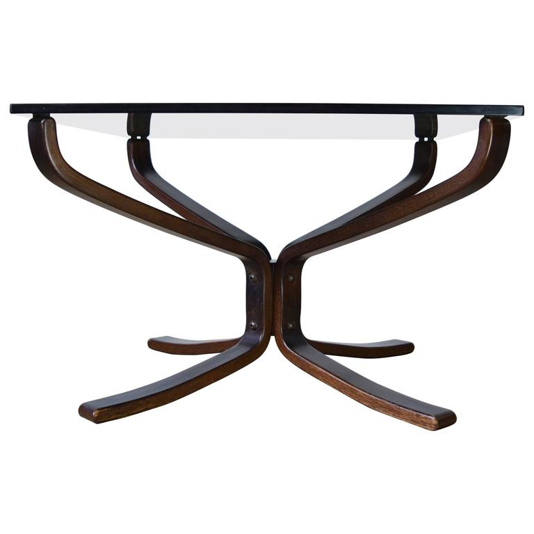 Sigurd Ressell Glass Top Coffee Table for Vatne Møbler
