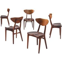 Jensen & Rasmussen Tractor Chairs in Teak and Walnut