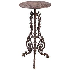 Small, Round Garden Table in the Style of the End of 19th Century, Cast Iron