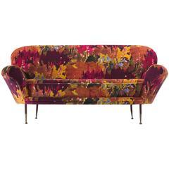Italian Two-Seat Sofa with New Pierre Frey Fabric
