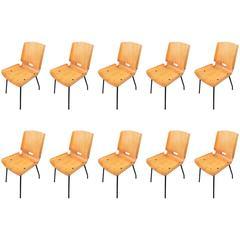 Ten Rare Chairs, Design G.De Carlo Arflex, 1950
