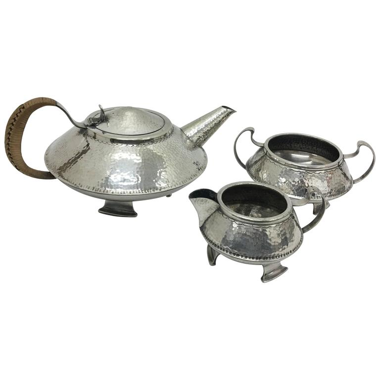 Arts and Crafts English Tea Set, circa 1910