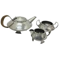 Arts and Crafts English Tea Set, circa 1910