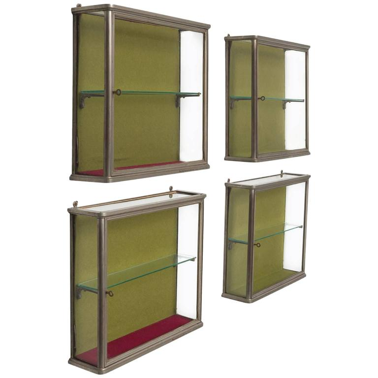 small custom made art deco wall vitrines for sale at 1stdibs. Black Bedroom Furniture Sets. Home Design Ideas