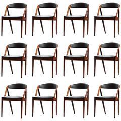 Set of Twelve Kai Kristiansen Dining Chairs